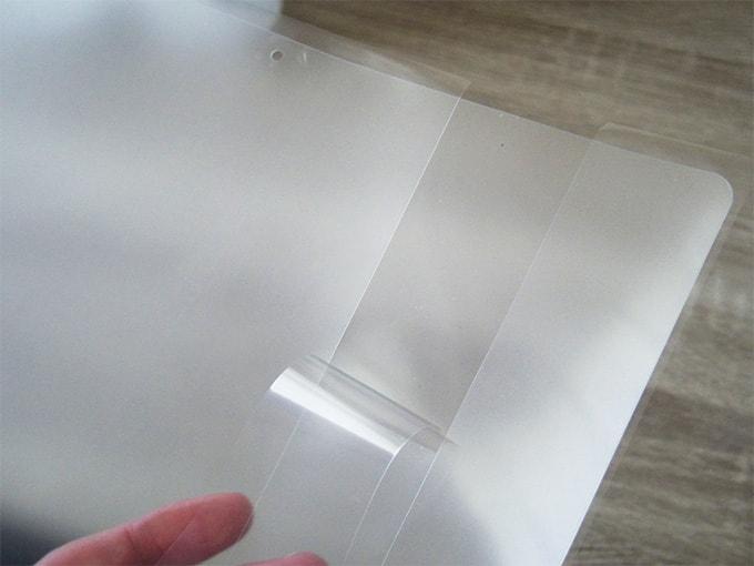 MacBookアンチグレアシート_シートの剥がし方
