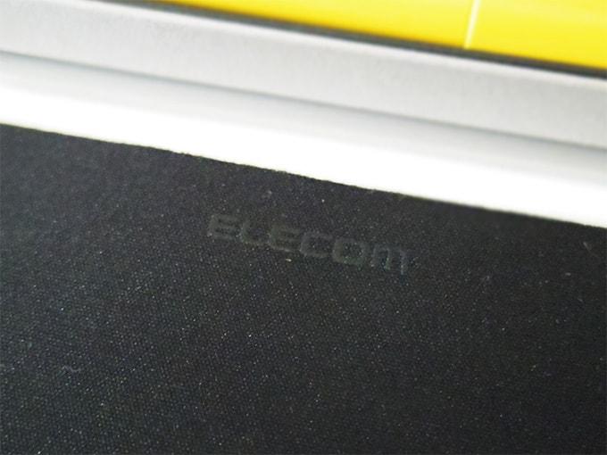 ELECOMデスクマット_ロゴの拡大