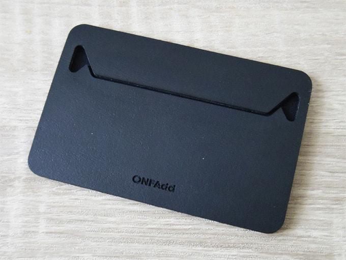 ONFAdd-FLAT-WALLET_表面のデザイン