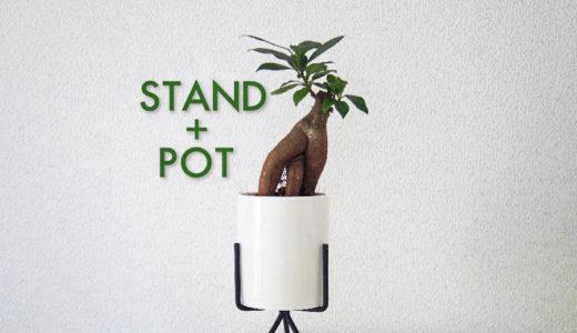 珍しいスタンド付き植木鉢を購入。観葉植物から多肉植物までスマートに引き締めます。