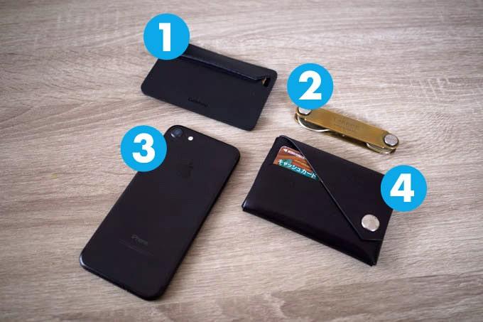 現役デザイナーのカバンの中身_財布と鍵とスマホ