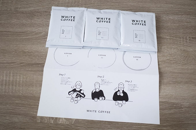 WHITECOFFEE診断キット_セット内容