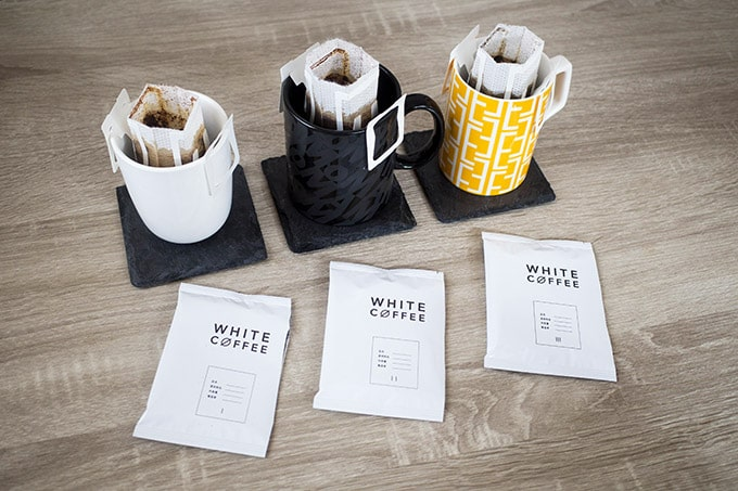 WHITECOFFEE診断キット_3種を飲み比べ