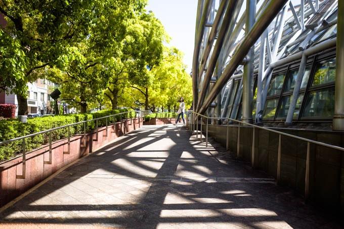 国立国際美術館(大阪)_自然と建築の対比