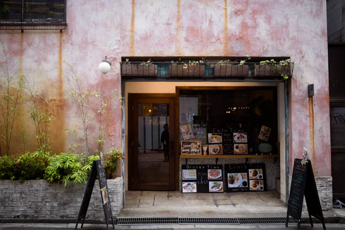 GRIII(GR3)中崎町フォトウォーク_レトロな外壁