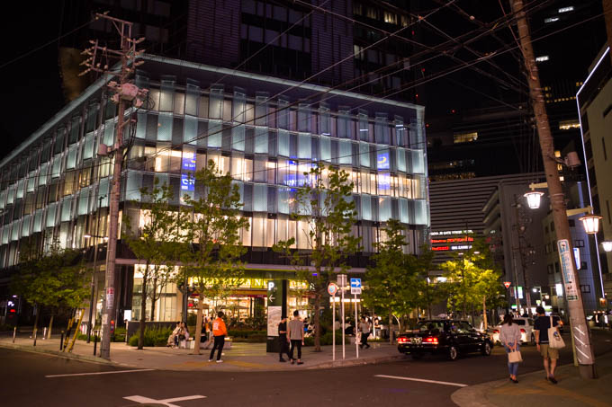 GRIII(GR3)名古屋駅周辺フォトウォーク_夜のイセタンハウス