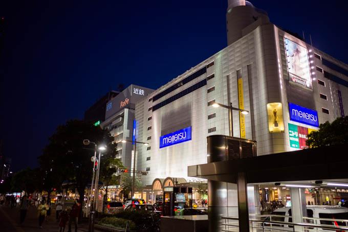 GRIII(GR3)名古屋駅周辺フォトウォーク_夜の名鉄百貨店