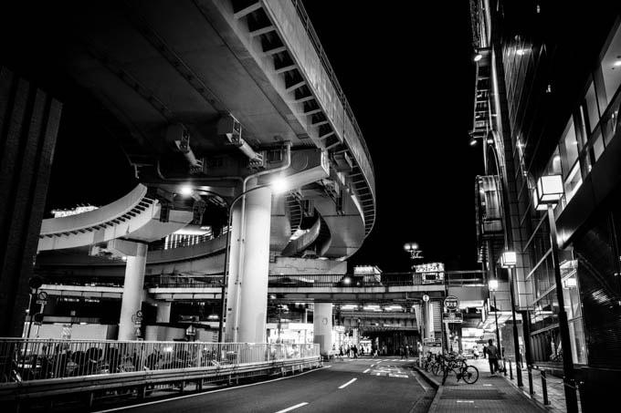 GRIII(GR3)ハイコントラスト白黒作例_三宮駅周辺