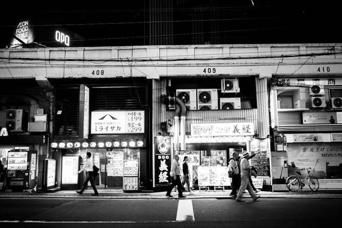 GRIII(GR3)ハイコントラスト白黒作例_飲み屋街