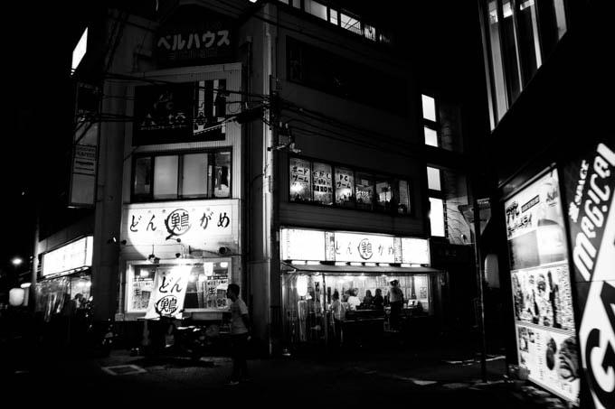 GRIII(GR3)ハイコントラスト白黒作例_居酒屋