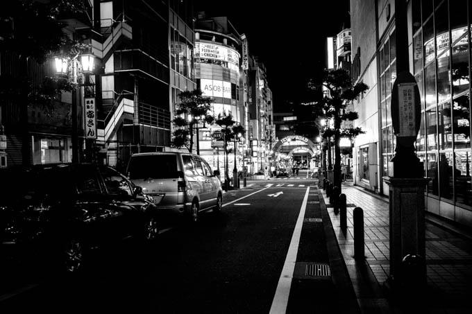 GRIII(GR3)ハイコントラスト白黒作例_生田神社周辺