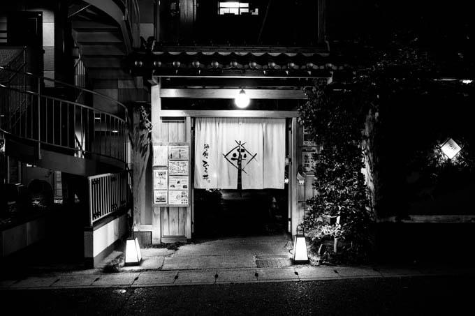 GRIII(GR3)ハイコントラスト白黒作例_和風のお店