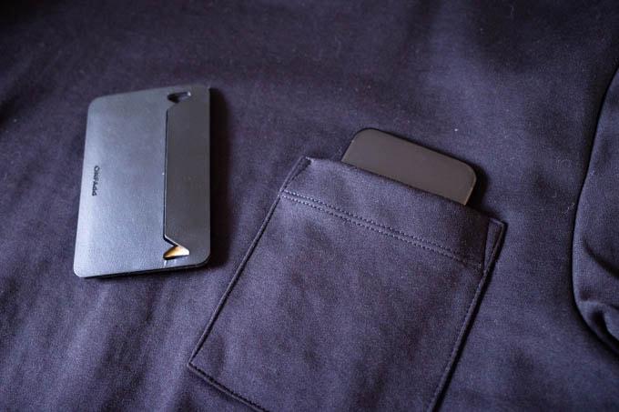 GU ポンチクルーネックT(5分袖)_スマホも入る胸ポケット