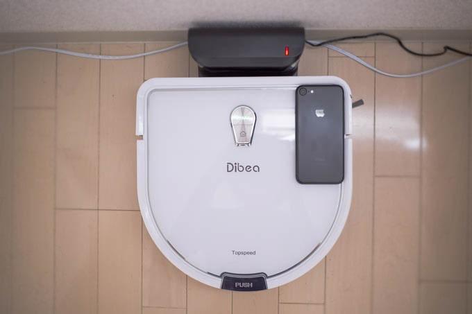 Dibea-D960ロボット掃除機_本体のサイズ比較