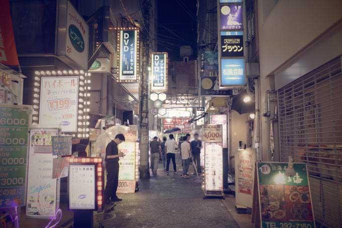 GRIII(GR3)レトロモード作例_ネオン街