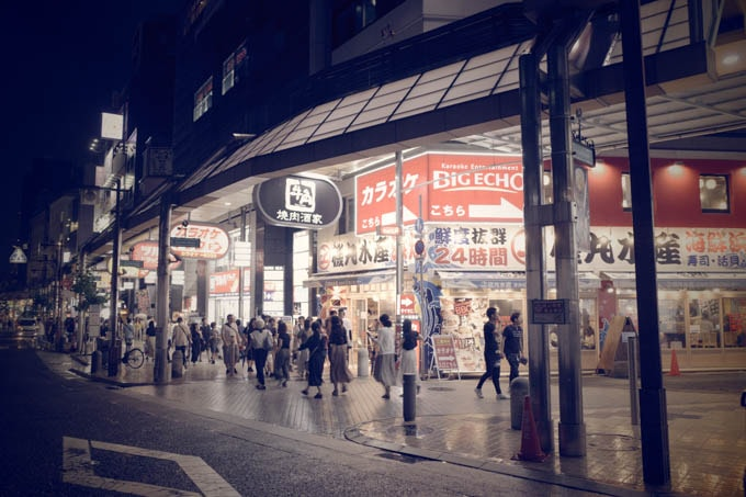 GRIII(GR3)レトロモード作例_三宮駅前