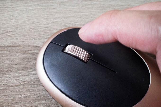 Satechi M1 Bluetoothマウス_ローレット加工