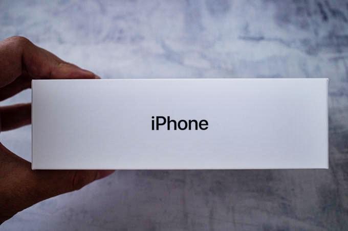 無印iPhone11ブラック_箱の側面