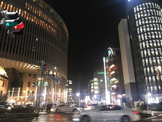 無印iPhone11ブラック_広角夜景撮影