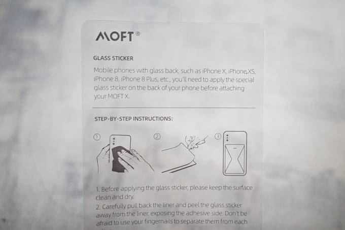 MOFT X(モフトエックス)_ガラス貼り付け用シート