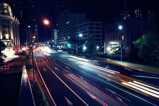 GRIII(GR3)クロスプロセス作例_夜の道路を見下ろす3