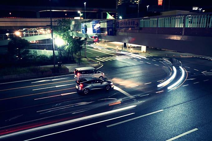 GRIII(GR3)クロスプロセス作例_夜の道路を見下ろす2