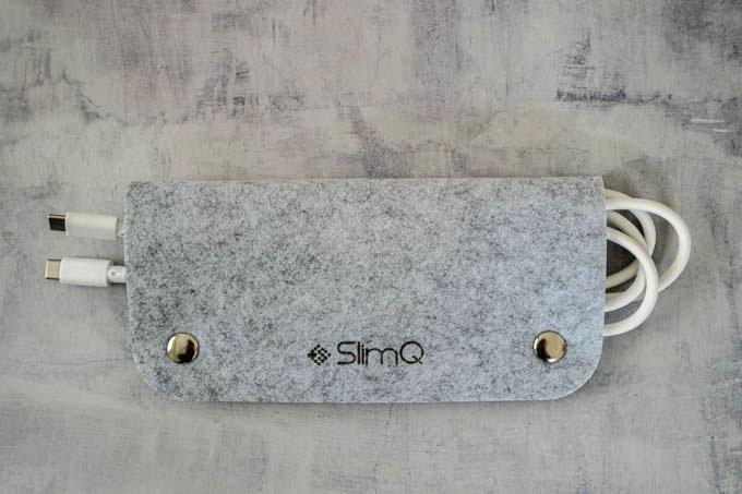 SlimQ-65W-PD充電器_フェルトのケーブルホルダー