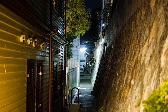 SIGMA fp(シグマエフピー)-神戸北野写真(夜)_細道