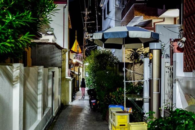 SIGMA fp(シグマエフピー)-神戸北野写真(夜)_細い道
