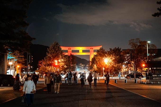 SIGMAfpティールオレンジin京都_夜の鳥居