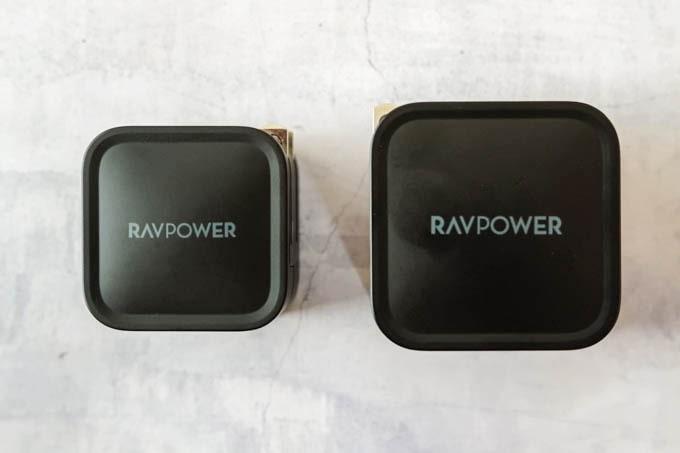 RAVPOWER_RP-PC120_RP-PC112とのサイズ比較1