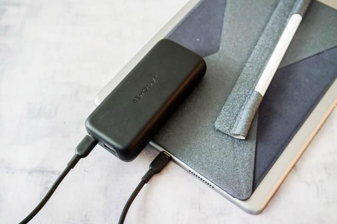 RAVPOWER(ラブパワー)_RP-PB186モバイルバッテリー_iPadを充電