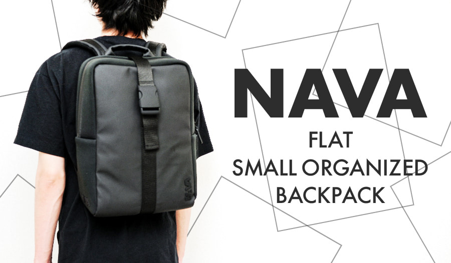 NAVA_FLAT SMALL ORGANIZED BACKPACK_アイキャッチ