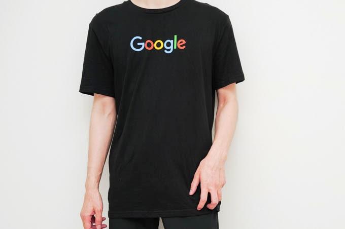 google公式グッズ_Tシャツ着用写真