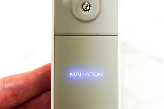 MAHATONどこでも除菌_使用時のロゴ点灯