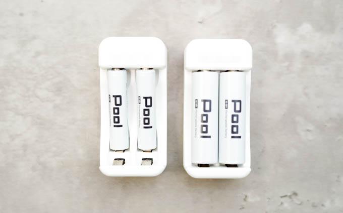 POOL充電池_単4単3兼用の充電器