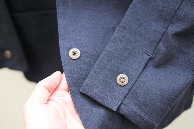 ALLYOURS着た着てジャケット_袖スナップボタン