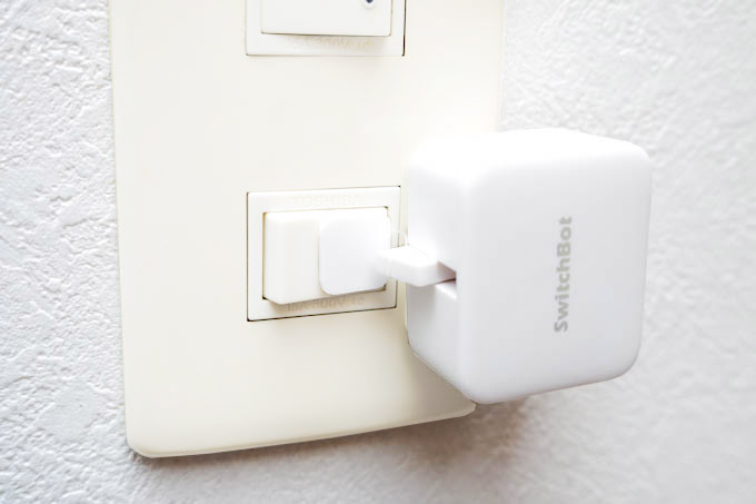 SwitchBotスイッチに設置