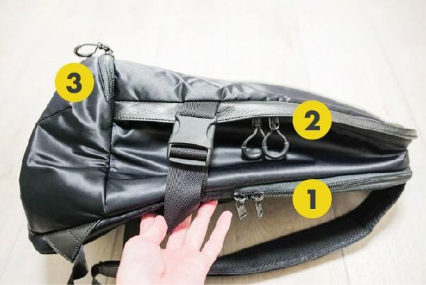 Y-3(ワイスリー)RACER BP バックパック_収納スペース