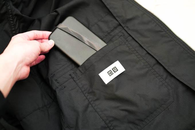 UNIQLO U 2021SS フーデッドコート_内側ポケット