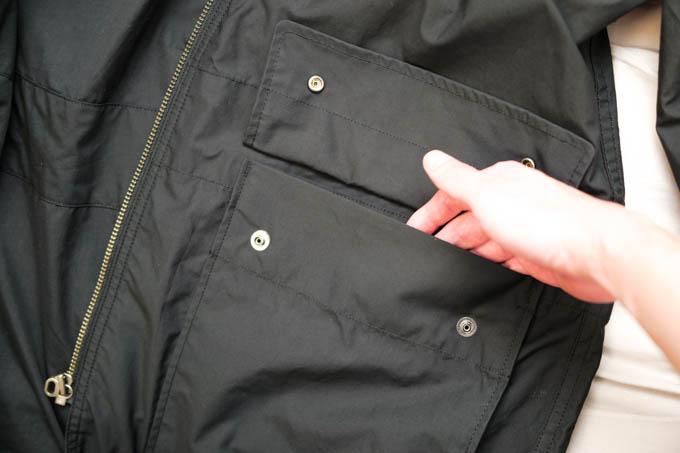 UNIQLO U 2021SS フーデッドコート_上部大型ポケット