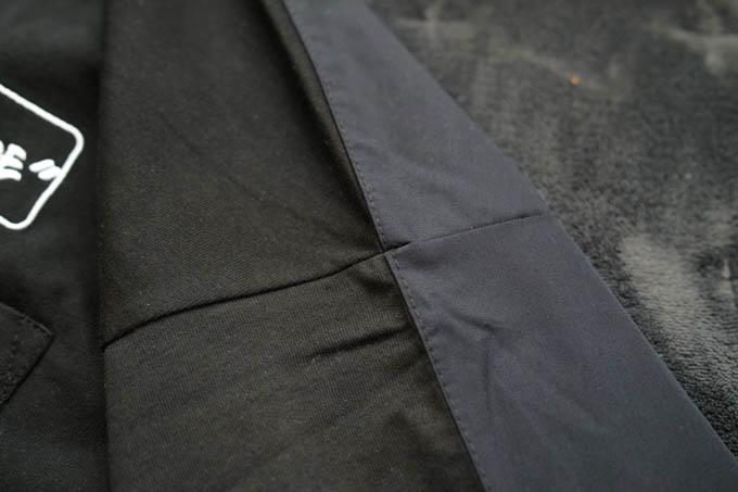 GU×ミハラヤスヒロ_オーバーサイズT(5分袖)コンビネーション_生地切替