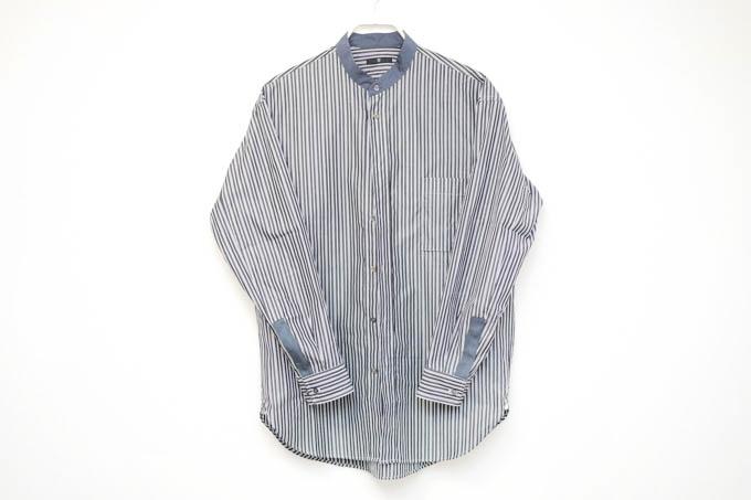 UNIQLO+J2021SS_スーピマコットンオーバーサイズスタンドカラーシャツ_全体のデザイン