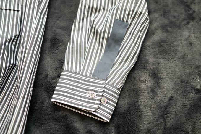 UNIQLO+J2021SS_スーピマコットンオーバーサイズスタンドカラーシャツ_袖