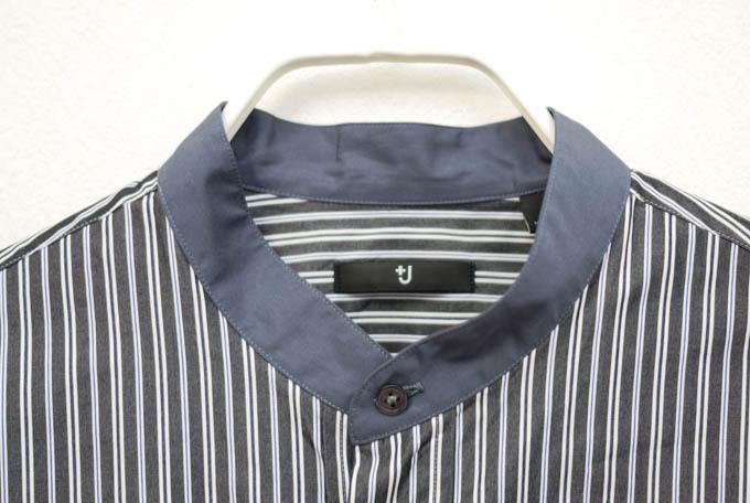 UNIQLO+J2021SS_スーピマコットンオーバーサイズスタンドカラーシャツ_スタンドカラー襟
